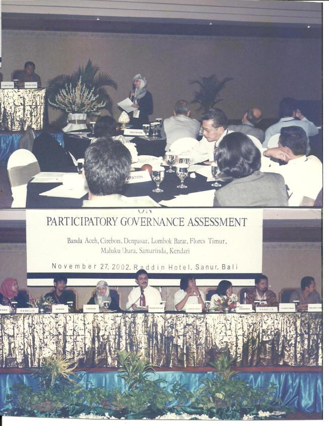 pembicara seminar participatory governance assessment